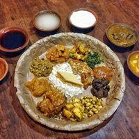 Newari maaltijd Nepal