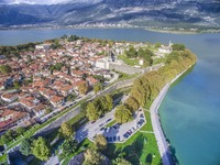 Uitzicht op Ioannina Griekenland