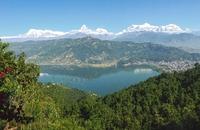 Uitzicht Pokhara Nepal