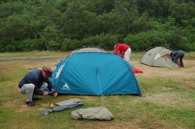 Tent kamperen IJsland