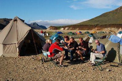 Groep tent IJsland