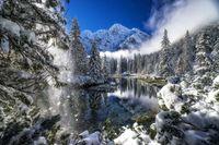 Natuur meer winter Polen