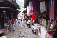 Straat winkels Albanië