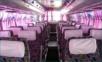 China en tibet bus binnenkant vervoersmiddel Djoser