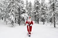 Kerstman sneeuw Lapand