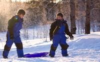 Kinderen sneeuw Lapland