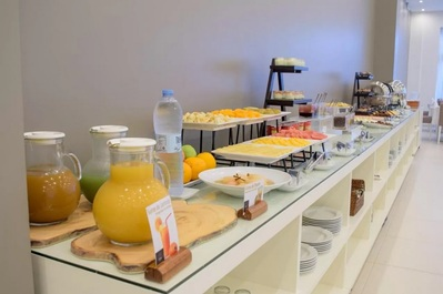 Hotel Porto Grande ontbijt Sao Vicente Kaapverdie