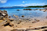 Strand zee Palau Sardinië