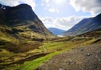Glen Nevis vallei Schotland