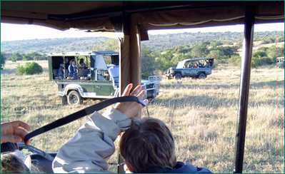 Zuid-Afrika safari bus vervoersmiddel Djoser