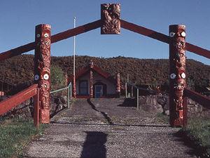 Taupo - ingang Marae