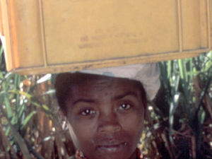 Tulear - vrouw met krat