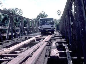Carolinabrug met de bus