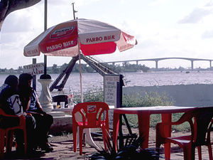 Paramaribo – terrasje aan de Waterkant