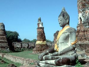 Ayutthaya - boeddha beeld