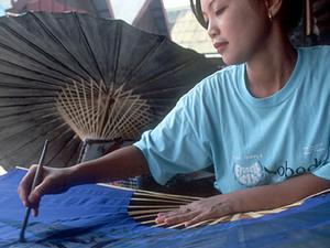 Chiang Mai - parasolfabriekje