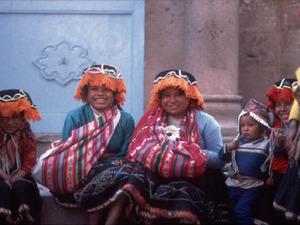 Indiaanse vrouwen in Cusco
