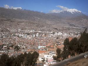 La Paz -uitzicht op de stad
