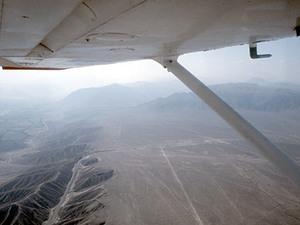 Nasca - zicht uit vliegtuigje