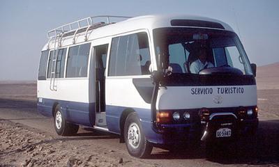 Peru en Amazone bus vervoersmiddel Djoser