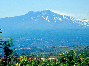 Etna - uitzicht op de vulkaan