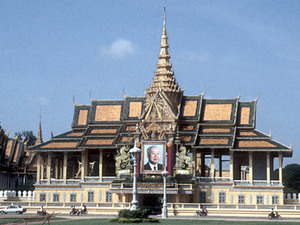 Phnom Penh - koninklijk paleis