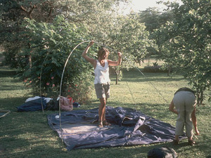 Het kamperen - de tenten