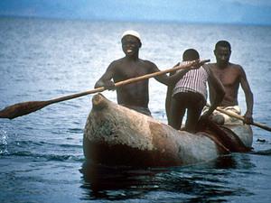 Lake Malawi – houten kanoe