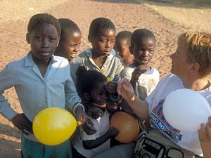 Bushcamp – nieuwsgierige kinderen