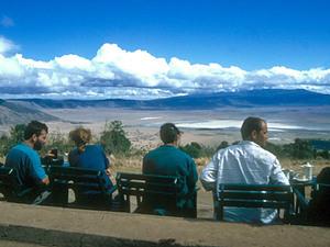 Ngorongoro – uitzicht op de krater