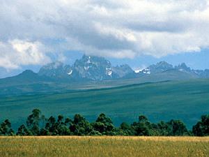 Mount Kenia - gezicht op berg