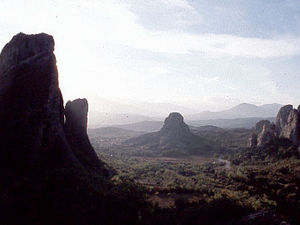 Kalambaka - berglandschap