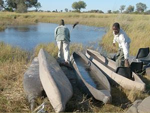 Okavango delta - mokoro's