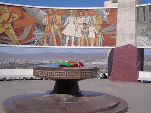 Ulaanbaatar - monument vriendschapsheuvel