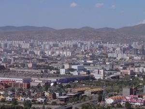 Ulaanbaatar - uitzicht vanaf de vriendschapsheuvel