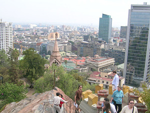Santiago de Chile - uitzicht over stad