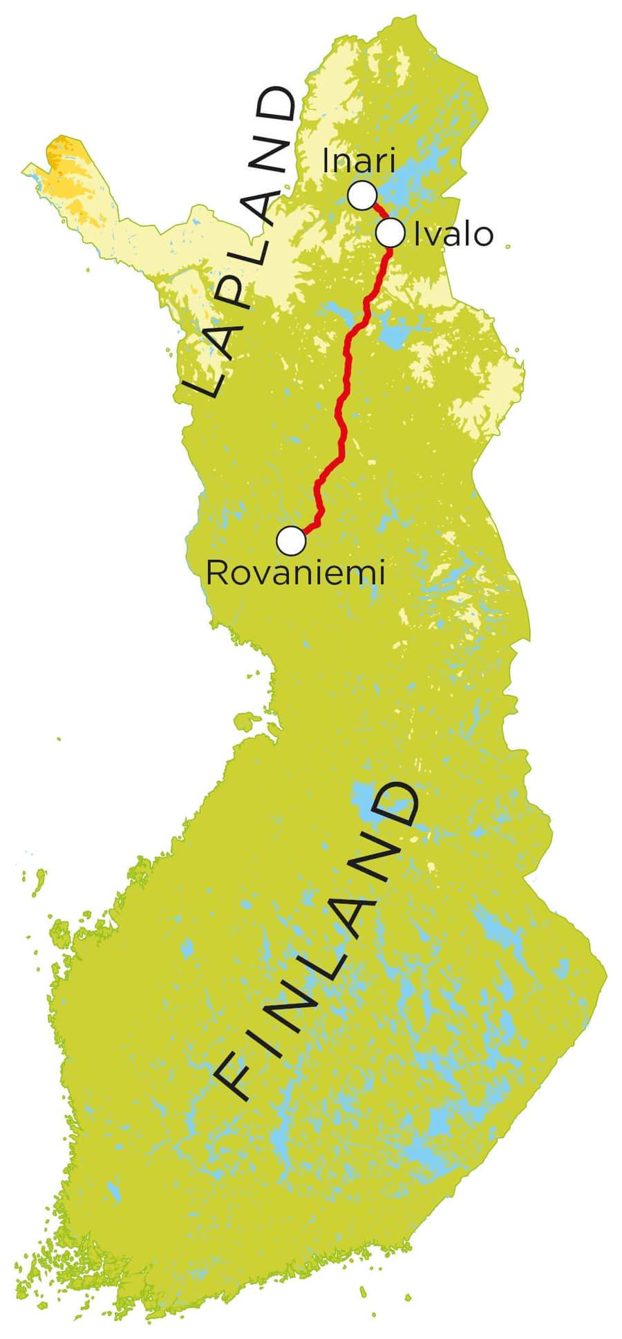 Routekaart Lapland, 7 dagen