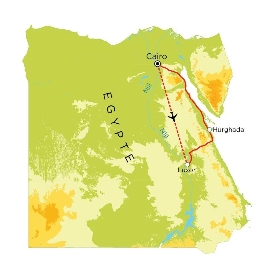 Routekaart Egypte, 9 dagen