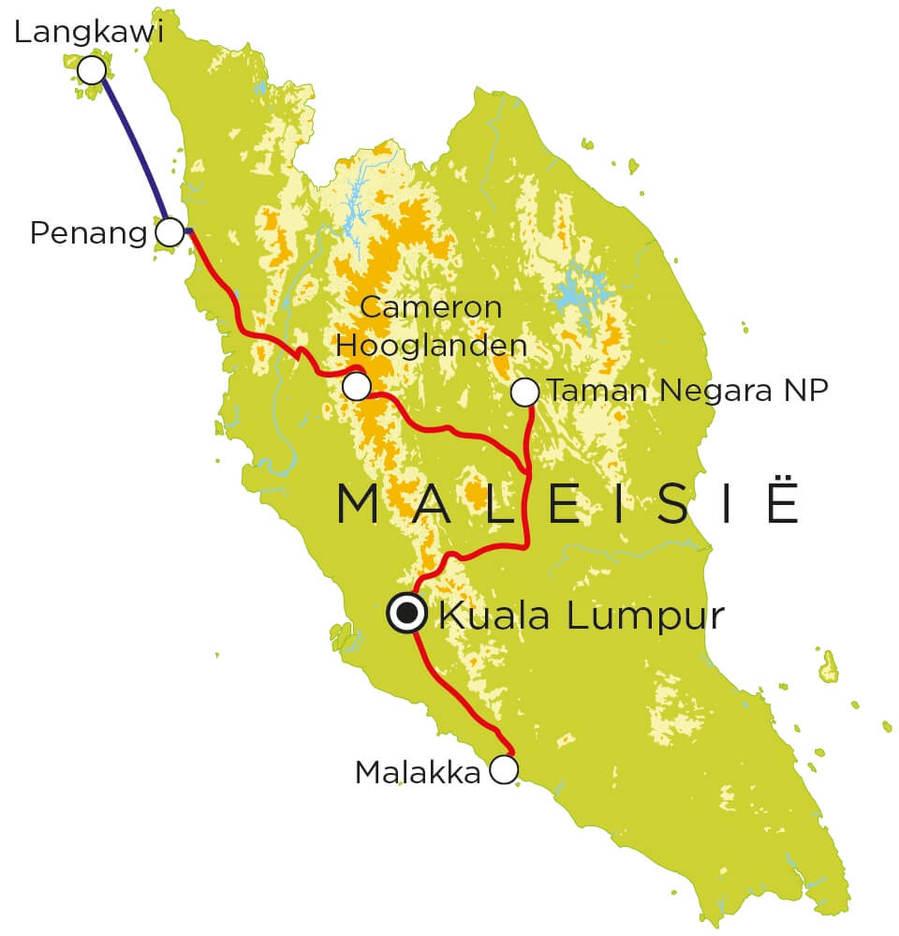 Routekaart Maleisie, 20 dagen