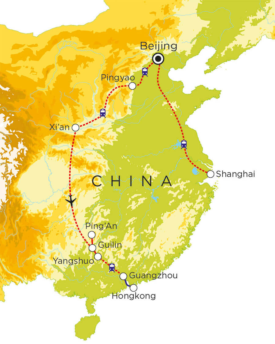Routekaart China, 18 dagen