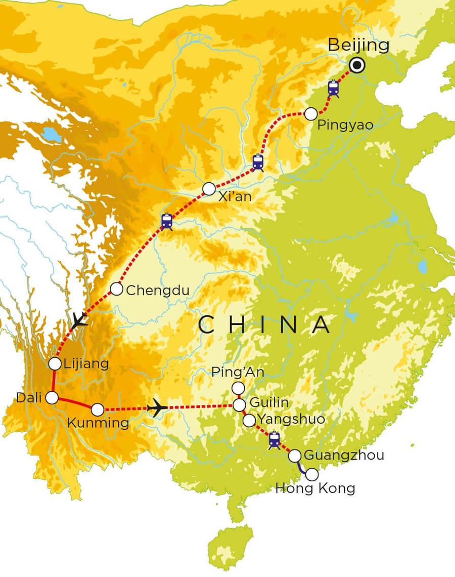 Routekaart China, 24 dagen