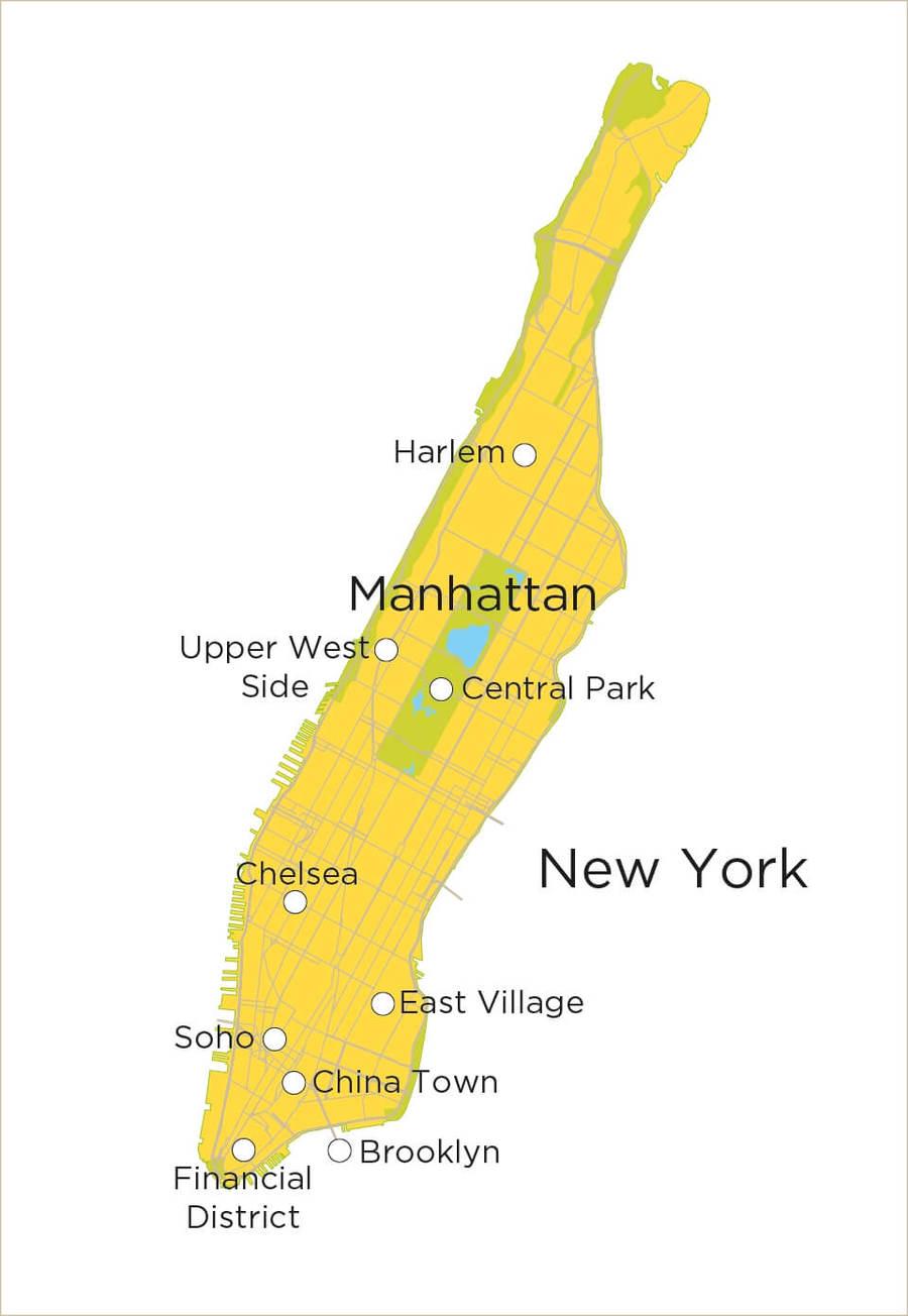 Routekaart Stedenreis New York, 7 dagen