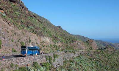Bus uitzicht Tenerife