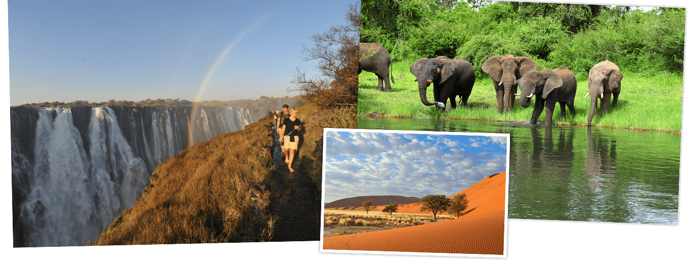 Zuid-Afrika, Botswana, Namibië & Victoriawatervallen lodge/hotelreis