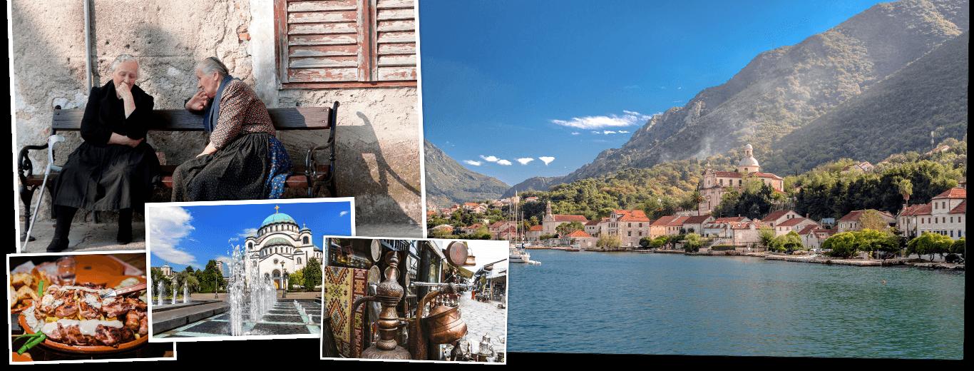 Servië, Bosnië & Herzegovina, Kroatië, Montenegro en Kosovo