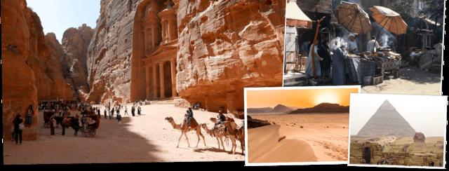 Egypte en Jordanie