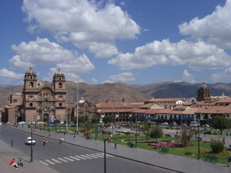 Cusco - Het centrale plein in Cusco